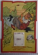 Calendrier Mural 1961 - Illustration Paul Barbier - Publicité Charcuterie Lagny (dept 77) - Calendriers