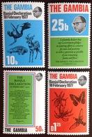 Gambia 1977 Banjul Declaration Animals Reptiles Butterflies Birds MNH - Gambia (1965-...)