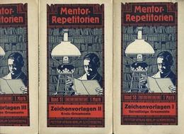 Livre - Allemand - Mentor Repetitorien Band 50-51-52 : Zeichenvorlagen I, II, III - Graphisme & Design
