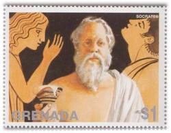 Socrates, Greek Philisopher, Epistemology, Ethics, Famous Person MNH - Theologians