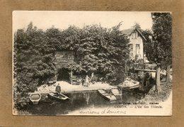 CPA - Environs D'AMIENS (80) - CAMON - Thème : Arbre - Aspect De L'île Des Tilleuls En 1917 - Otros Municipios