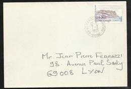 Lettre Circulée De Saint Pierre De Chandieu Le 7/7/1990 AVANT LE PREMIER JOUR (14/07) Du N°2660 Cassis Cap Canaille TB - France