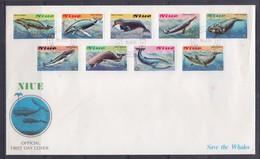 Niue 1983 Save THe Whales FDC - Mammifères Marins