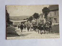 40619   -   BurFord  Pageant  -  Queen  Elizabeth  And Cortege  In  Procession - Surrey