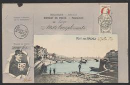 Carte Postale - Mandat De Poste De Liège (Pont Des Arches). Thématique Facteur / Voyagée. - Liege
