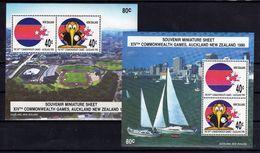NEW ZEALAND N. Zélande 1989 Commonwealth Games  Yv Bl 70 + 71 MNH ** - Blocs-feuillets