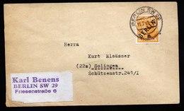A6140) Berlin Brief Berlin SW29 11.02.49 N. Solingen EF Mi.10 - Briefe U. Dokumente