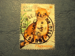 "2000-2009-timbre Oblitéré N°3384    "" Petits Animaux Ds La Forêt : L'hermine     ""     1 Euro - Used Stamps"