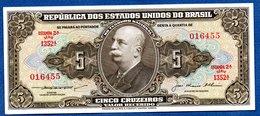 Brésil - 5 Cruzeiros  - Pick # 176  -  état   UNC - Brazil