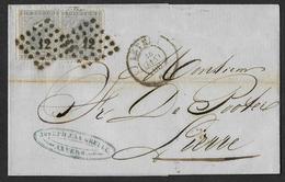 17 (2x) Sur Lettre Oblitération LP 12 CàD Anvers Le 24 Janv 1866 Vers Lierre (Lot 828) - 1865-1866 Profil Gauche