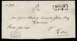 A6141) AD NDPB Brief Bochum 1865 N. Cöln M. Beamtenstempel Panzer - Norddeutscher Postbezirk