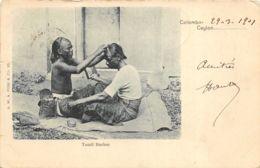 Colombo - 1901 - Tamil Barber - Barbier - Sri Lanka (Ceylon)