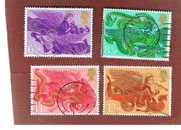 GRAN BRETAGNA (UNITED KINGDOM) -  SG 993.996 -  1975 CHRISTMAS (COMPLET SET OF 4)  - USED° - 1952-.... (Elisabetta II)