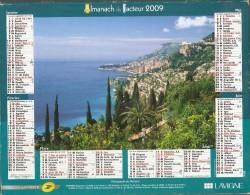 ALMANACH  DU  FACTEUR  2009   Meurthe Et Moselle.    MONACO  /   Plage De Palombaggia  -   Corse Du Sud - Kleinformat : 2001-...