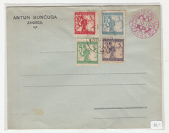 SHS Slovenia Chainbreakers Verigari Stamps Postmarked On Antun Bunčuga Company Letter Cover Croatian Phil.Soc. Pmk 1919 - Slovénie