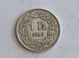 Suisse Switzerland 1 Franc Argent Silver 1943 Rappen - Suisse