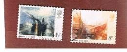 GRAN BRETAGNA (UNITED KINGDOM) -  SG 971.973  -  1975 J.M.W. TURNER (PAINTER) - USED° - Usati