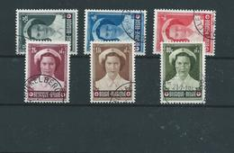 6 Timbres Belgique 912/17 Oblitérés. Joséphine-Charlotte. Croix-Rouge - Belgique