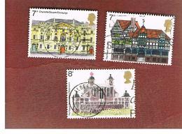 GRAN BRETAGNA (UNITED KINGDOM) -  SG 975.977  -  1975 EUROPEAN ARCHITECTURAL HERITAGE YEAR  - USED° - Usati