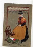 69 Exposition De LYON 1911 Velay Environs Du Puy Haute Loire, Femme, Rouet, Bebe Dans Berceau - Autres