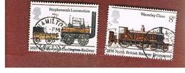 GRAN BRETAGNA (UNITED KINGDOM) -  SG 984.985  -  1975 PUBLIC  RAILWAYS  - USED° - Usati