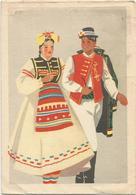 W2530 Longatico Logatec - Folklore - Costumi Adriatici - Illustrazione Illustration / Viaggiata 1943 - Slovenia