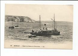 MORGAT - Départ Du Bateau De Douarnenez - Animé - Carte Rare - Morgat