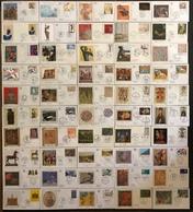 France FDC - Premier Jour - Lot De 50 FDC - Thématique Art Peinture Sculture Musée - FDC