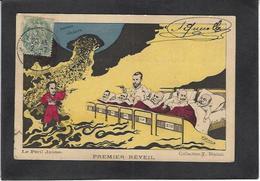 CPA Chine China Asie Circulé Satirique Caricature Bianco Russie Tsar Nicolas II Japon Japan - Chine