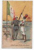BATTAGLIONE ERITREO LIBIA - CARTE PATRIOTIQUE MILITAIRE ITALIE - ANCH'IO PER LA TUA BANDIERA - ILLUSTRATEUR - Patriottisch