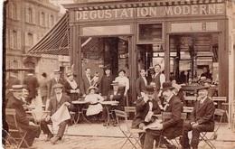 CPA 80 -  AMIENS, Cafe En Face Du Gare Du Nord, Carte Photo, 1918 - Amiens