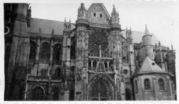 CATHEDRALE DE SENS 1934  PHOTO ORIGINALE  11.50 X 7 CM - Orte