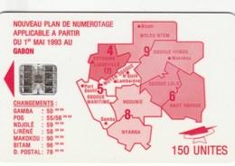Gabon - Map Of Gabon - Red - Gabon