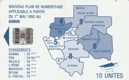 Gabon - Map Of Gabon - Blue - Gabun