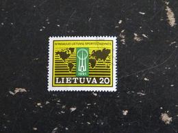 LITUANIE LIETUVA YT 413 OBLITERE - JEUX SPORTIFS MONDIAUX - Lituanie