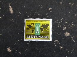 LITUANIE LIETUVA YT 413 ** - JEUX SPORTIFS MONDIAUX - Lituanie