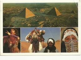 EGYPT   POST   PIEGHINA COME  DA  SCANSIONE - Piramidi