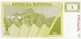 Slovenia 1 Tolar 1990 Pick 1 UNC - Slovenia