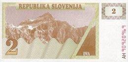 Slovenia 2 Tolar 1990 Pick 2 UNC - Slovenia