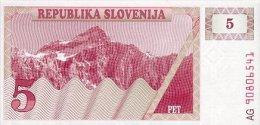 Slovenia 5 Tolar 1990 Pick 3 UNC - Slovenia