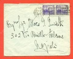 CENTENARIO FERROVIE- COPPIA 50 CENT. -DA FIRENZE PER NAPOLI -5/3/1940 - Storia Postale