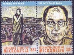 Tenzin Gyatso / Dalai Lama, Tibetan Buddhism Buddhism, Nobel Peace Prize Religion, History, MNH Micronesia - Buddhism