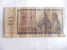 TCHECOSLOVAQUIE-BILLET 10 KORUN-1960-CIRCULE - Tchécoslovaquie