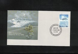 Australian Antarctic Territory 1986 Antarctic Treaty FDC - Antarktisvertrag