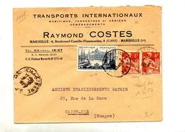 Lettre Cachet Marseille Sur Moisson Marseille - Marcophilie (Lettres)