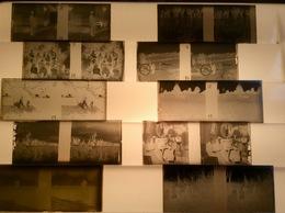 Boite De 18 Plaques Verre Photos,   12x5 Cm, Clichés De 1914 - Diapositivas De Vidrio