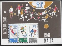 MALTA - MONDIALE DI CALCIO - ARGENTINA '78 - FOGLIETTO NUOVO** (YVERT BF 05 - MICHEL BL 06) - Coppa Del Mondo
