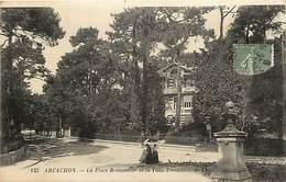 -dpts Div. -ref-AH600-  Gironde - Arcachon - Place Bremontier Et Villa Trocadero - Villas - Carte Bon Etat - - Arcachon