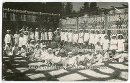 FOTO CARTOLINA COLONIA MARINA PRINCIPI DI PIEMONTE PORTO SAN GIORGIO ASCOLI PICENO ANNO 1938 - Ascoli Piceno