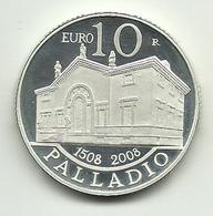 2008 - San Marino 10 Euro - Palladio Senza Confezione - San Marino